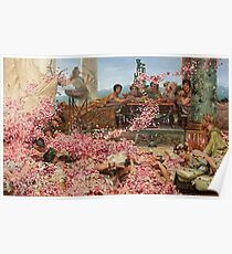 The Roses of Heliogabalus by Alma-Tadema Poster