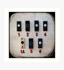 Blackpool Doorbells Art Print