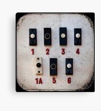 Blackpool Doorbells Canvas Print