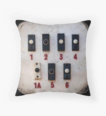 Blackpool Doorbells Throw Pillow