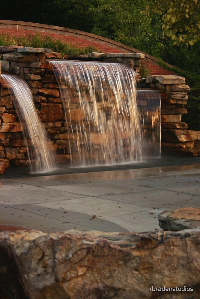 Riverwalk waterfall by rbradenstudios