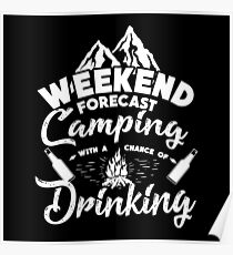 CAMPING WITH A CHANCE OF DRINKING  Poster