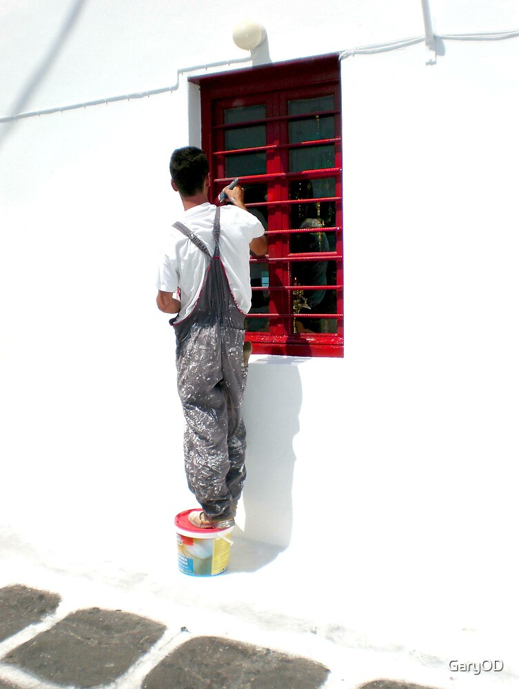 Red Window, White Walls by GaryOD