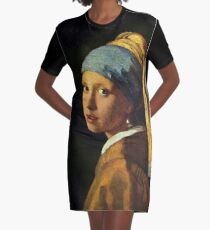 Girl with a Pearl Earring Graphic T-Shirt Dress