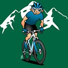 MTB - Mountain biker in the mountains by cardvibes