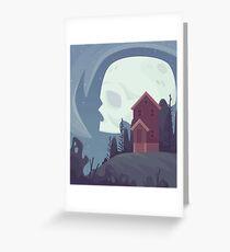 Spooky Moon Greeting Card