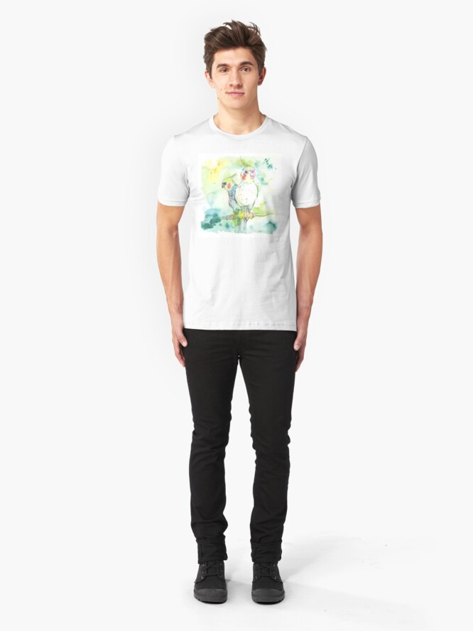 Alternate view of Cockatiel Pairing Slim Fit T-Shirt