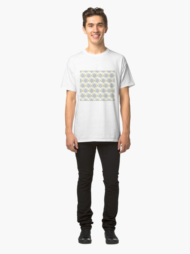 Alternate view of Geometric Pattern: Hexagon Star Diamond: Grey Classic T-Shirt
