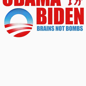 Obama Biden Brains not Bombs t shirt by barackobama