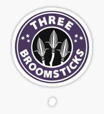 Three Broomsticks Sticker