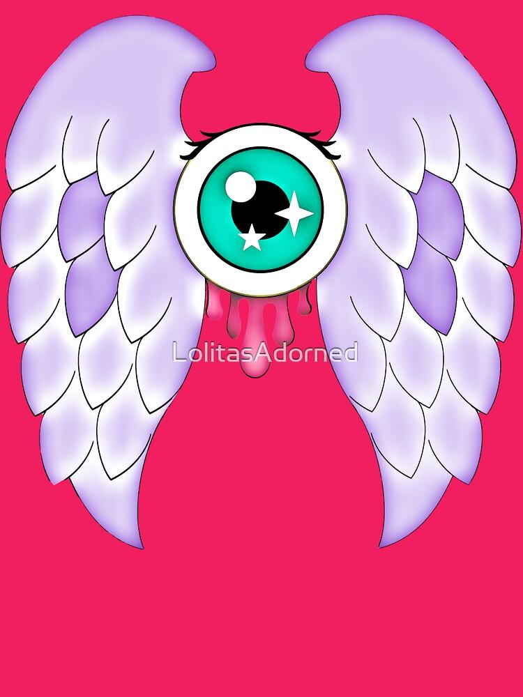 Pastel Goth | Winged Eye | Pink by LolitasAdorned