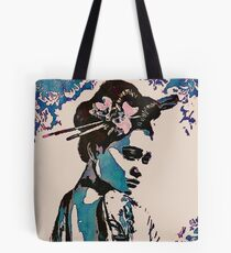 Misaki with the pink hibiscus Tote Bag