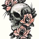 Skull and Roses by GuruTattoo
