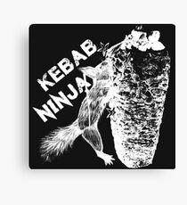 Kebab squirre Ninja Canvas Print