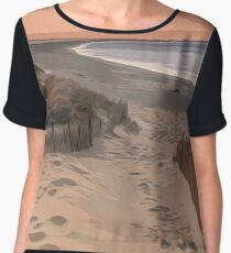Coastal Paradise Women's Chiffon Top