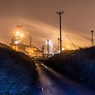 Steelworks - Industrial Night Photography by Robert Cook