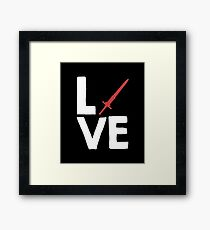 Love - Sword Games Gaming Gamer Video Games Role Playing Games RPG Framed Print