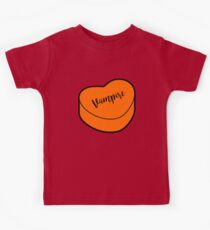 Love Vampire |  Orange Halloween Heart Candy | Conversation Kids Clothes