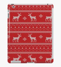 Knitted Christmas Pattern iPad Case/Skin