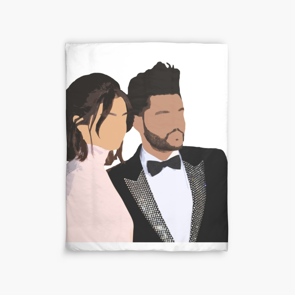 Quot Selena Gomez And The Weeknd Draw Quot Duvet Covers By