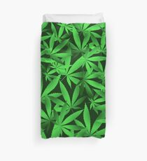 Green Ganja Duvet Cover