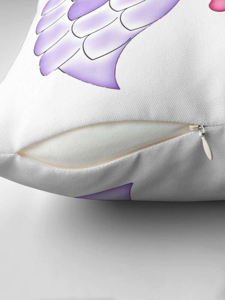 Alternate view of Pastel Goth | Winged Eye | White Throw Pillow