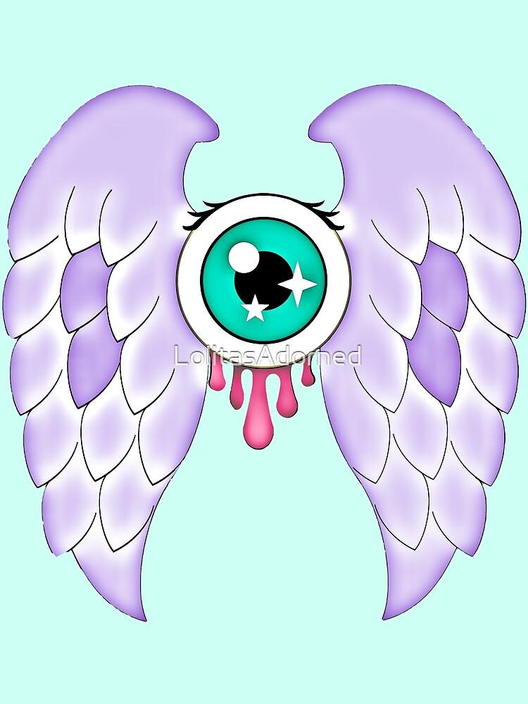 Pastel Goth | Winged Eye | Aquamarine by LolitasAdorned