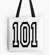 101, TEAM SPORTS, NUMBER 101, one o one, Competition Tote Bag