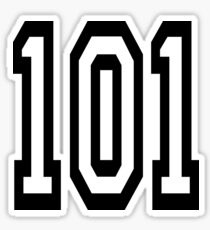 101, TEAM SPORTS, NUMBER 101, one o one, Competition Sticker