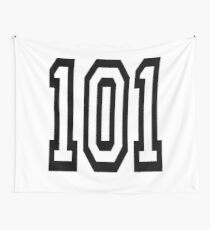 101, TEAM SPORTS, NUMBER 101, one o one, Competition Wall Tapestry