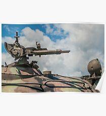 Battle Tank Machine Gun Poster
