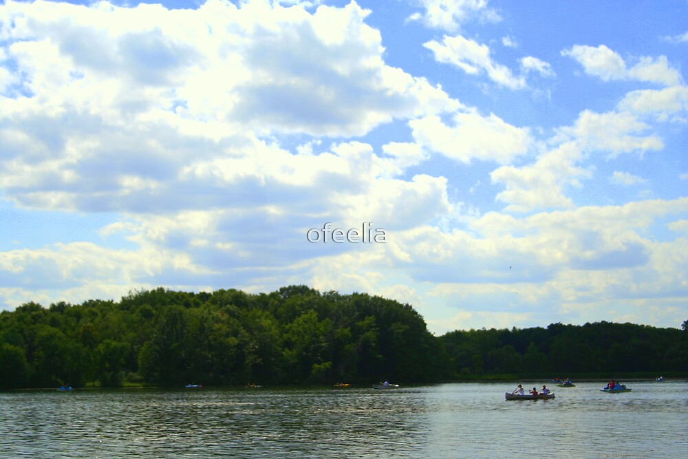 boat on the lake  by ofeelia