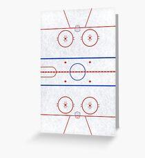 Ice Hockey Rink Greeting Card