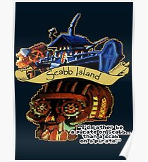 Visit Scabb Island Poster
