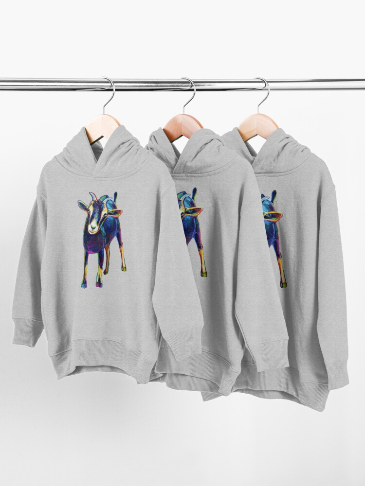 Alternate view of Gertie the Goat, Star of the Show Toddler Pullover Hoodie