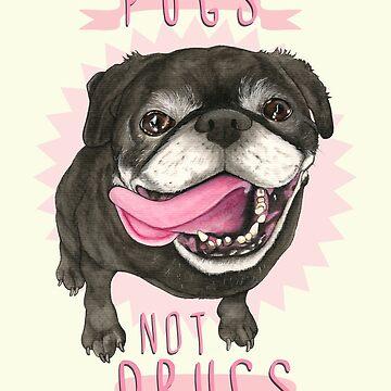 Pugs no drogas de PaperTigressArt