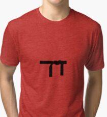 black bed karate  Tri-blend T-Shirt