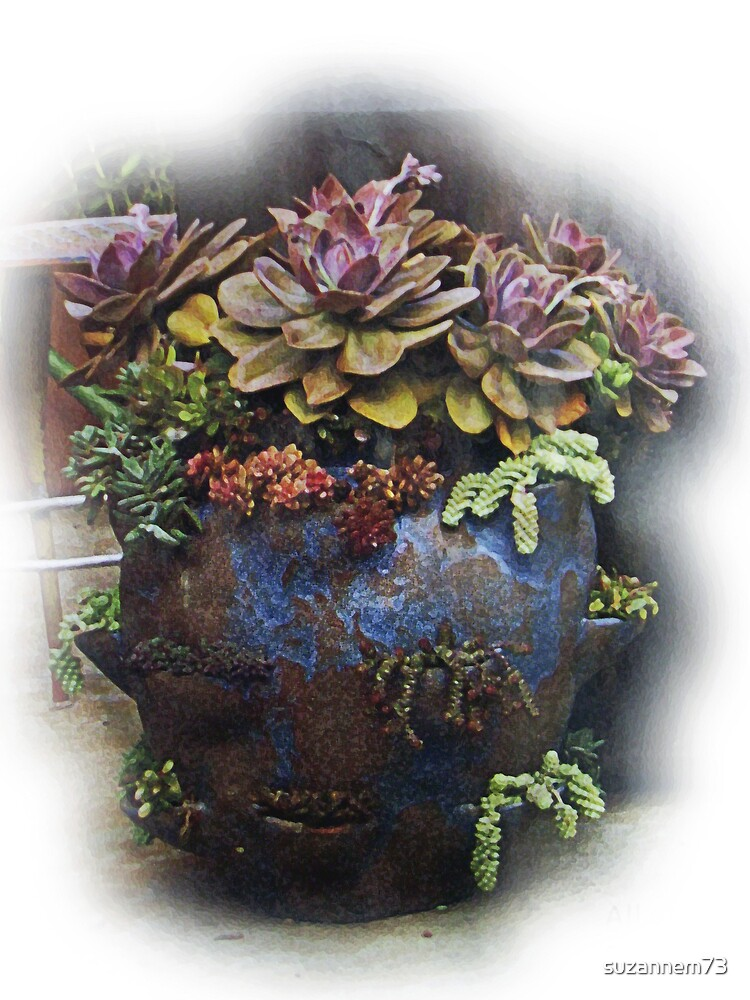 Blue Strawberry Jar by suzannem73