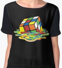 Rubix Cube Chiffon Top