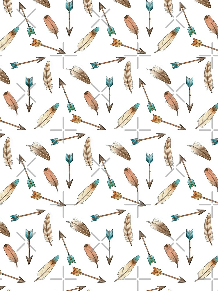 Scattered Feathers and Arrows Pattern by HazelFisher