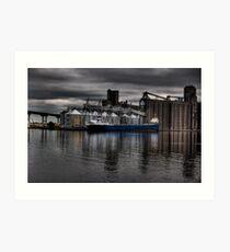 Grain Ship Loading Art Print