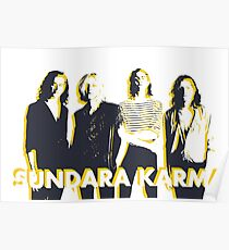 Sundara Karma | Yellow Sticker | UK Merch Poster