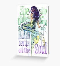 Mermaid : Profound Depths Greeting Card