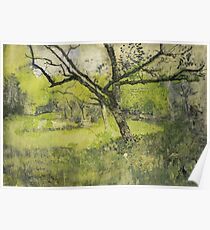 Orchard at Eemnes, Richard Roland Holst, 1888 - 1895 Poster