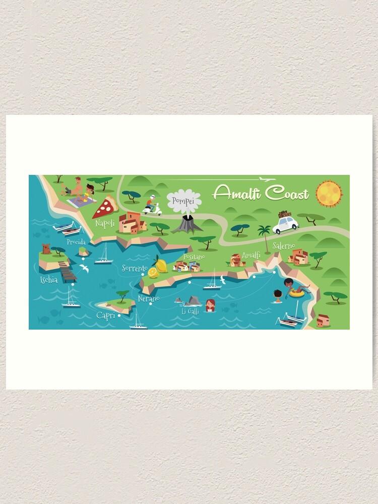 Amalfi Coast Poster Art Print