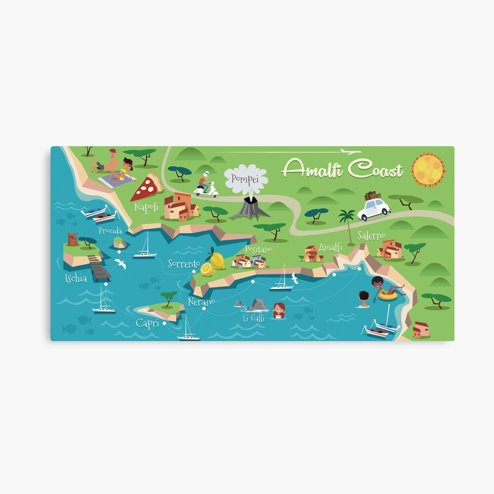 Amalfi Coast Poster Classic Mug
