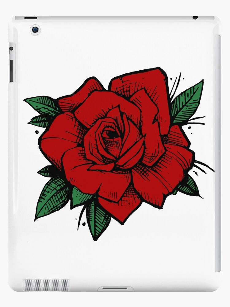 Old School Tattoo Rose Ipad Cases Skins By One And Only Redbubble