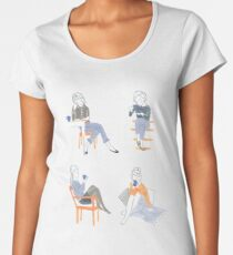 Coffee + Tea Drinkers by Katy Bloss Women's Premium T-Shirt