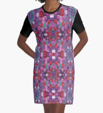 Wildflower Poppy Field Graphic T-Shirt Dress