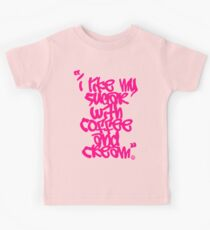 """I like my sugar with coffee and cream"" - Pink Kids Clothes"